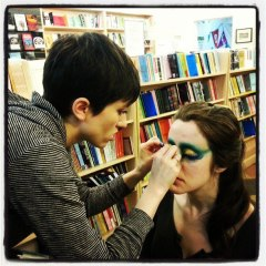 Rebecca doing Leigh's Makeup