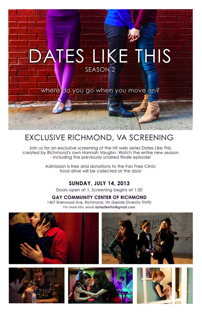 Richmond VA Screening - Join us Sunday July 14th!